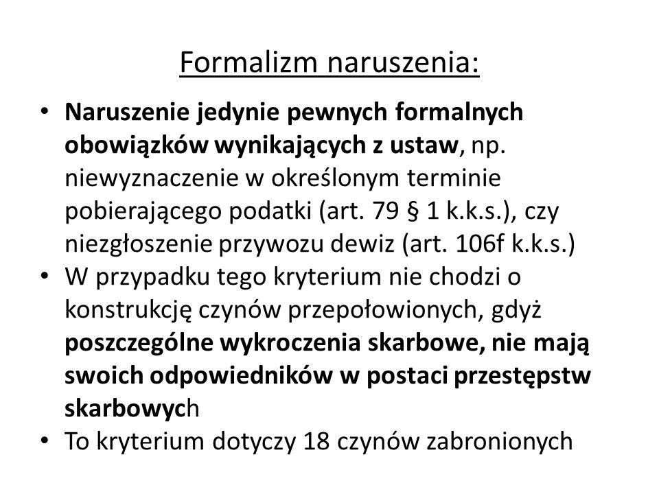 Formalizm naruszenia:
