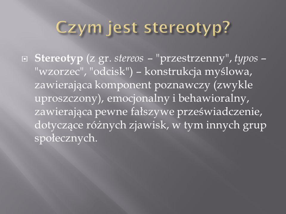 Czym jest stereotyp
