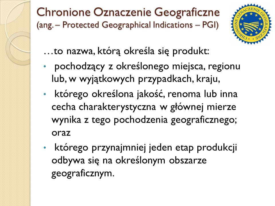 Chronione Oznaczenie Geograficzne (ang