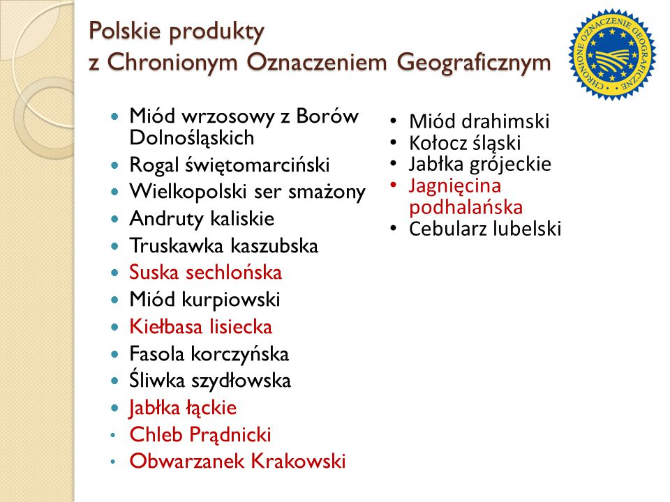Polskie produkty z Chronionym Oznaczeniem Geograficznym