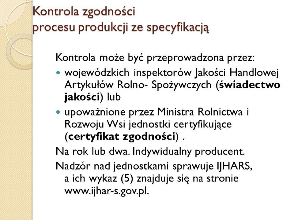 Kontrola zgodności procesu produkcji ze specyfikacją
