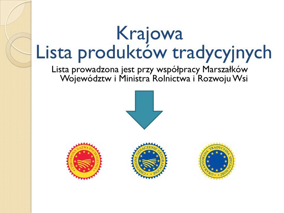 Krajowa Lista produktów tradycyjnych