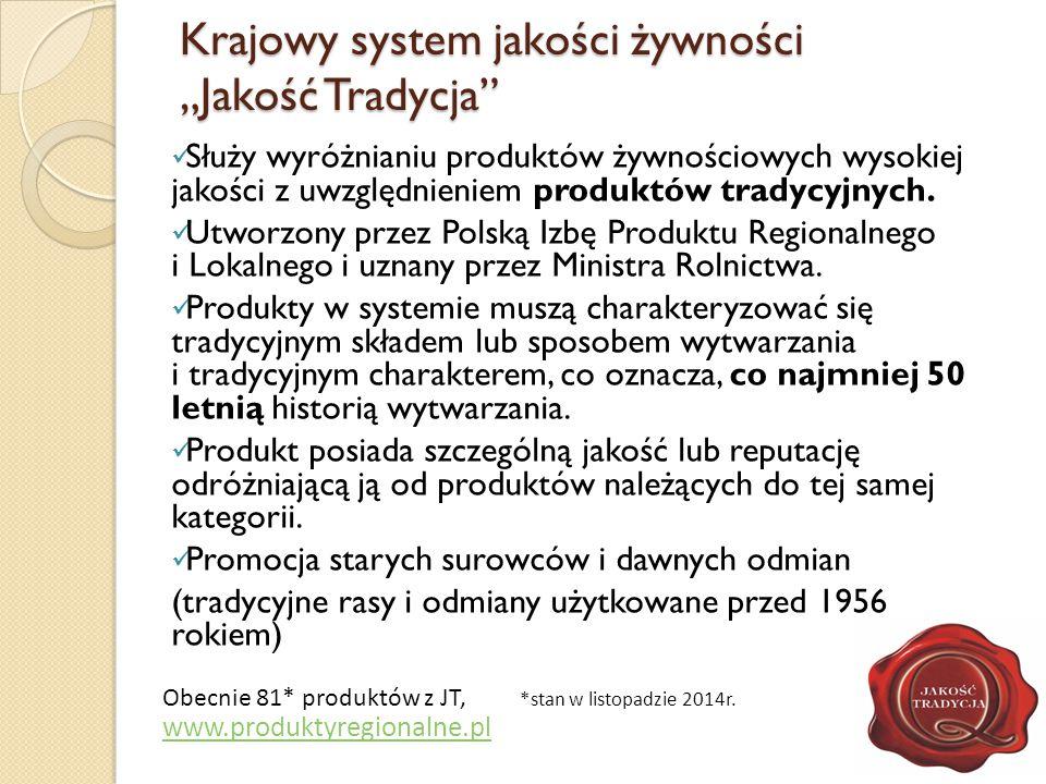 """Krajowy system jakości żywności """"Jakość Tradycja"""