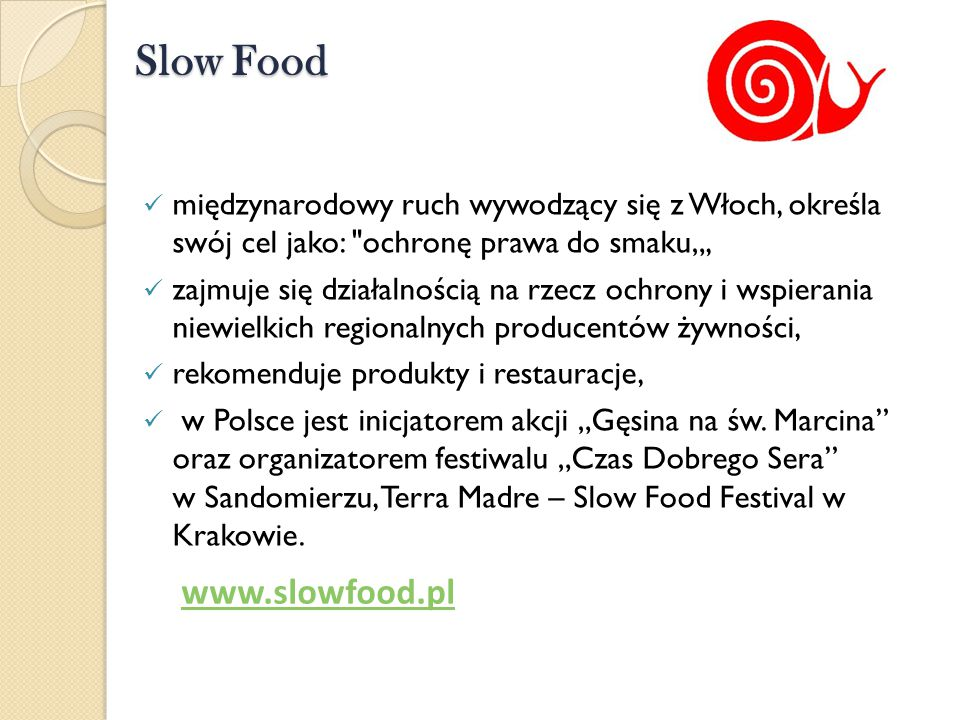 Slow Food www.slowfood.pl