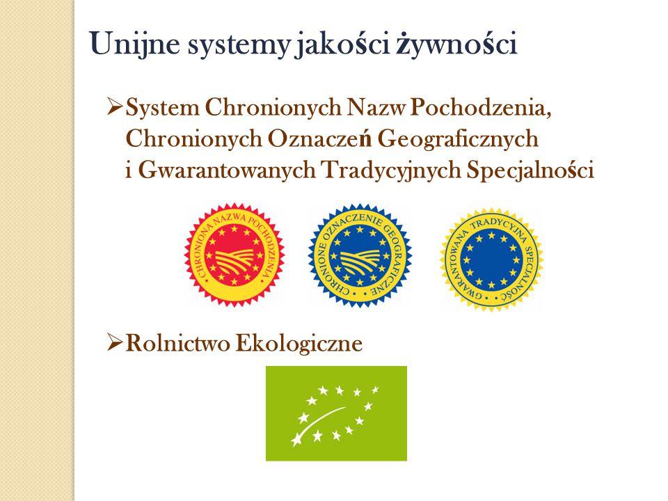 Unijne systemy jakości żywności
