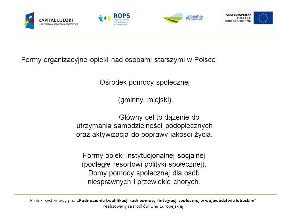 Formy organizacyjne opieki nad osobami starszymi w Polsce