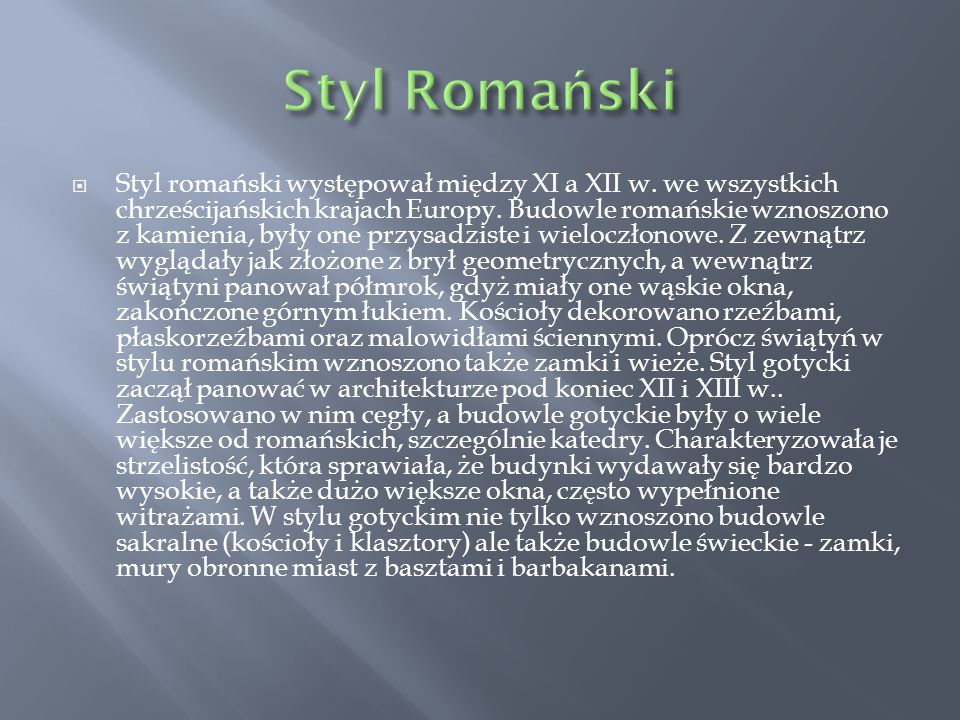 Styl Romański