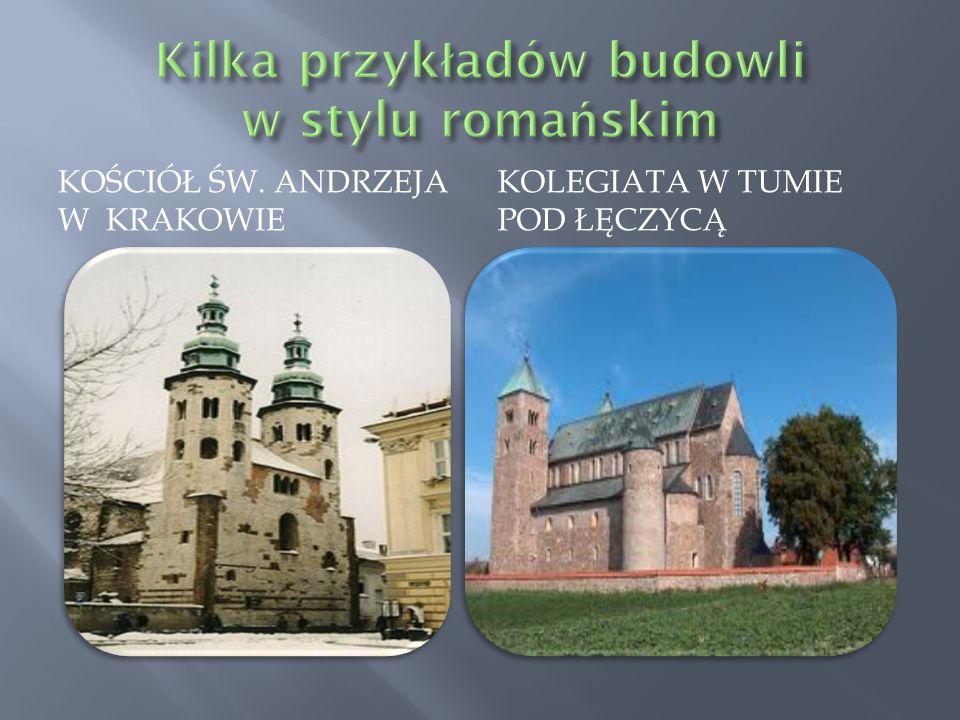 Kilka przykładów budowli w stylu romańskim