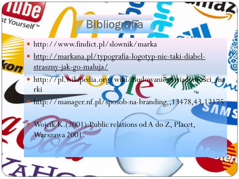 Bibliografia http://www.findict.pl/slownik/marka