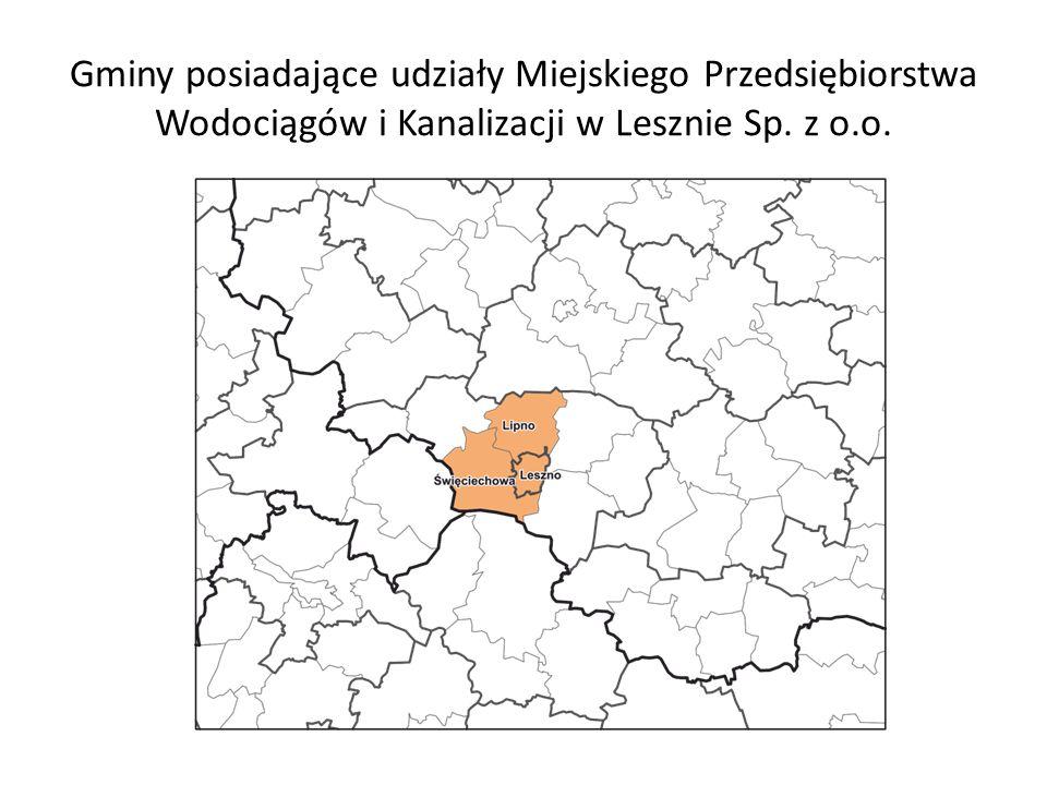 Gminy posiadające udziały Miejskiego Przedsiębiorstwa Wodociągów i Kanalizacji w Lesznie Sp. z o.o.