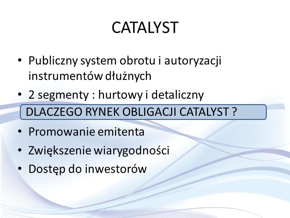 CATALYST Publiczny system obrotu i autoryzacji instrumentów dłużnych