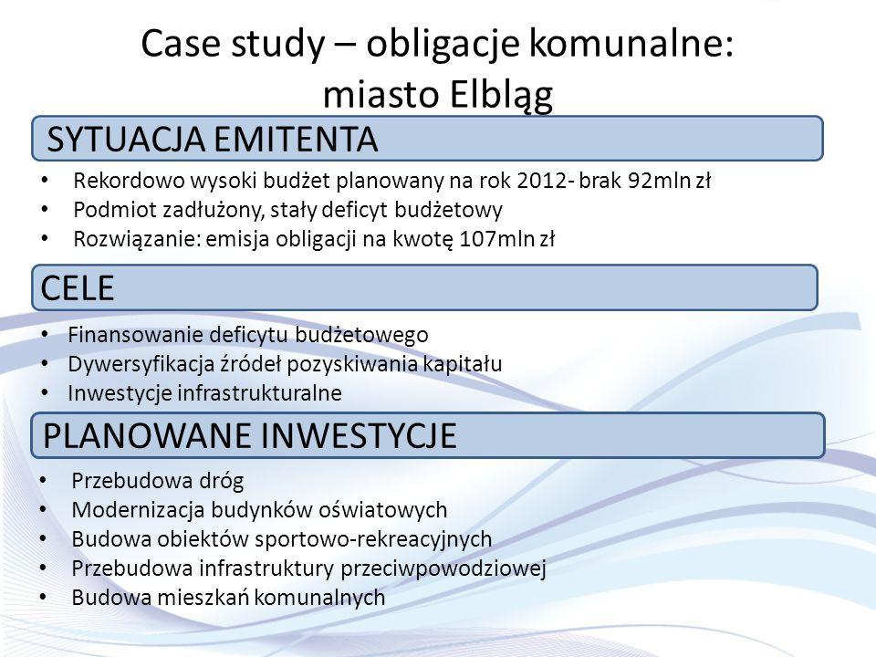 Case study – obligacje komunalne: miasto Elbląg