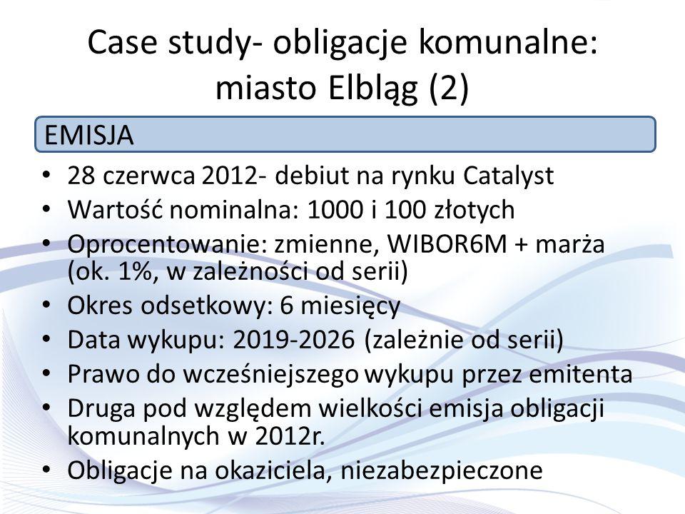 Case study- obligacje komunalne: miasto Elbląg (2)