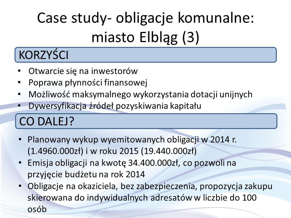 Case study- obligacje komunalne: miasto Elbląg (3)