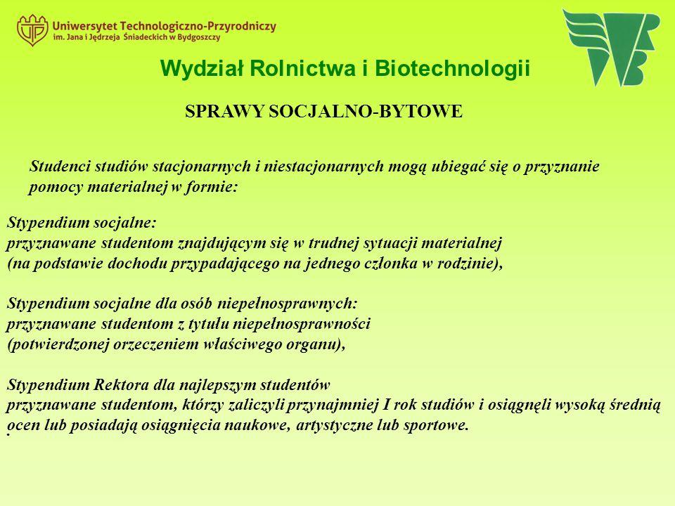 Wydział Rolnictwa i Biotechnologii