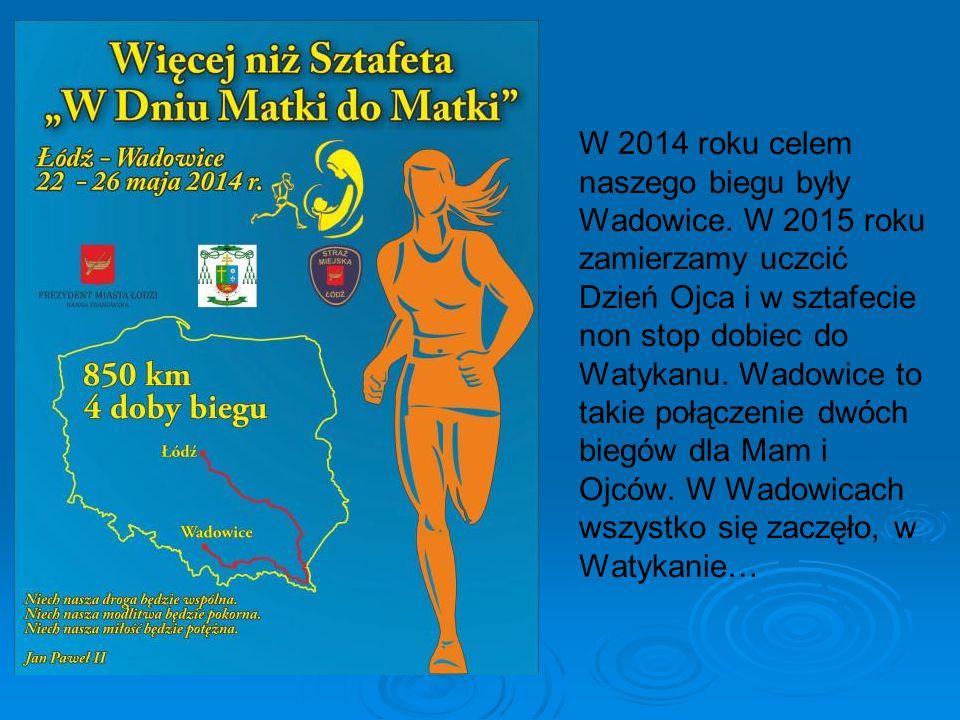 W 2014 roku celem naszego biegu były Wadowice