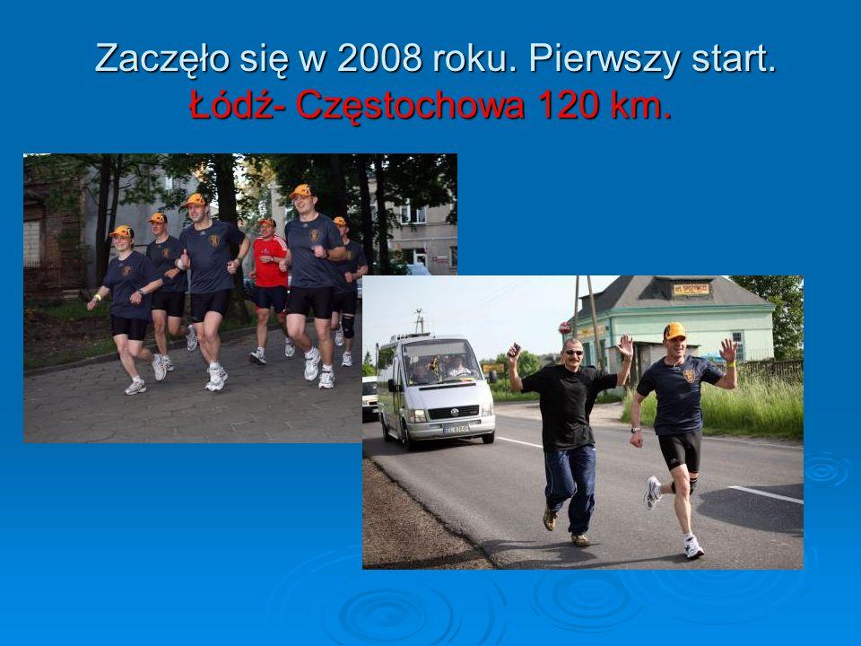 Zaczęło się w 2008 roku. Pierwszy start. Łódź- Częstochowa 120 km.
