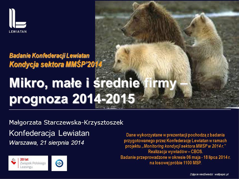 Mikro, małe i średnie firmy – prognoza 2014-2015
