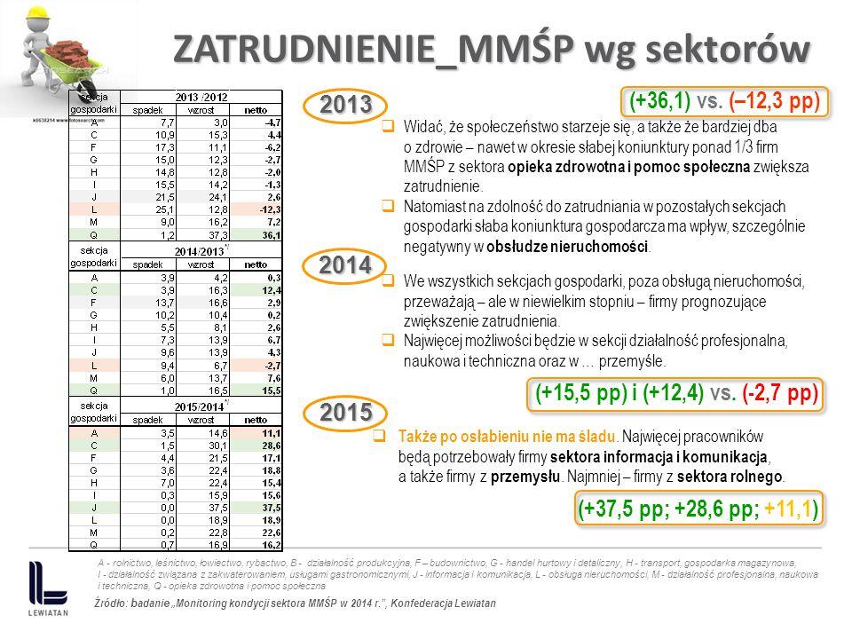 ZATRUDNIENIE_MMŚP wg sektorów