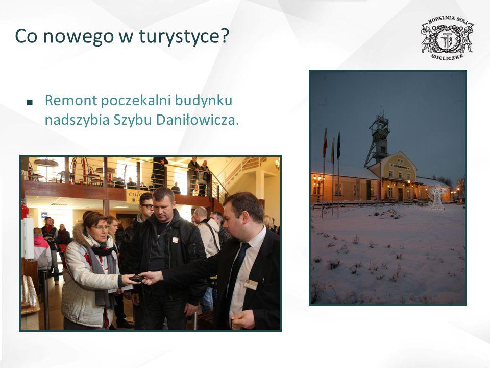 Co nowego w turystyce Remont poczekalni budynku nadszybia Szybu Daniłowicza.