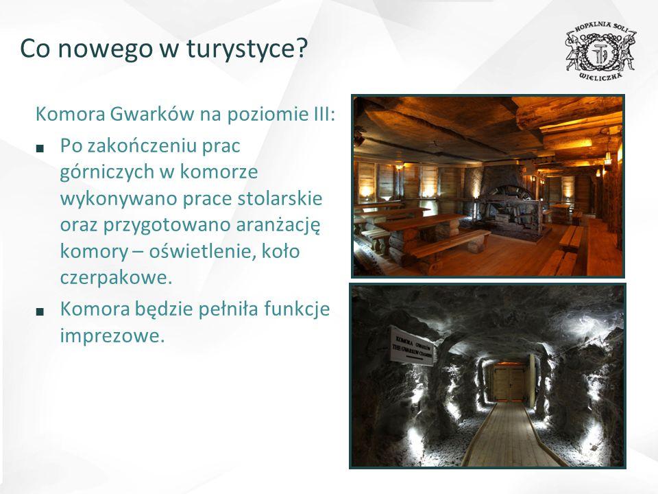 Co nowego w turystyce Komora Gwarków na poziomie III: