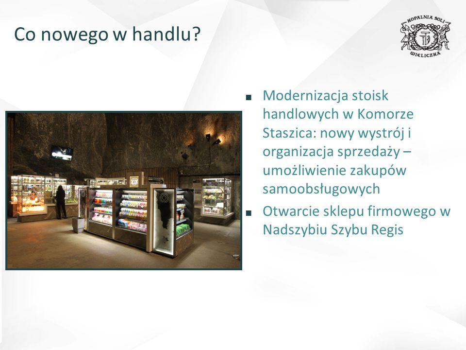 Co nowego w handlu Modernizacja stoisk handlowych w Komorze Staszica: nowy wystrój i organizacja sprzedaży – umożliwienie zakupów samoobsługowych.