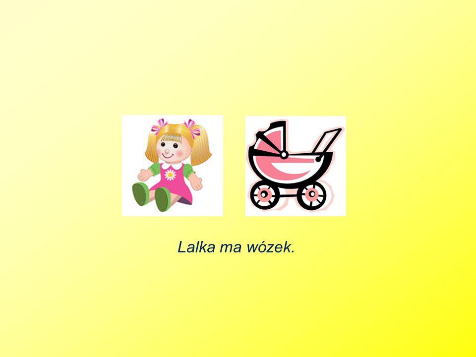 Lalka ma wózek.