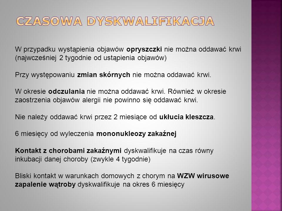 CZASOWA DYSKWALIFIKACJA