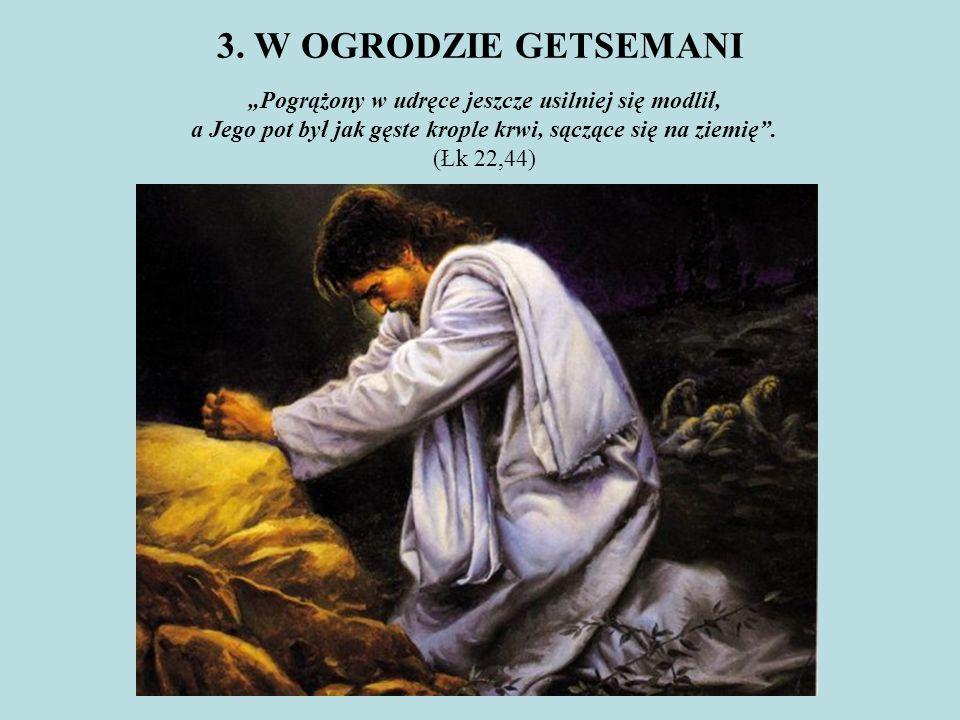 """""""Pogrążony w udręce jeszcze usilniej się modlił,"""