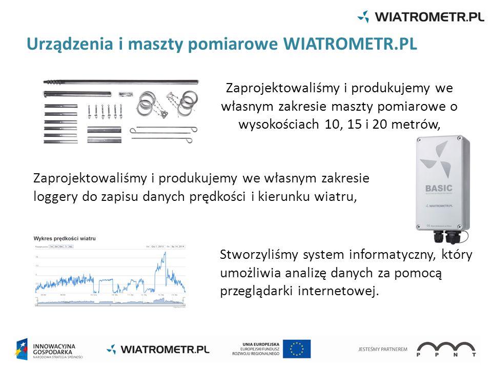 Urządzenia i maszty pomiarowe WIATROMETR.PL
