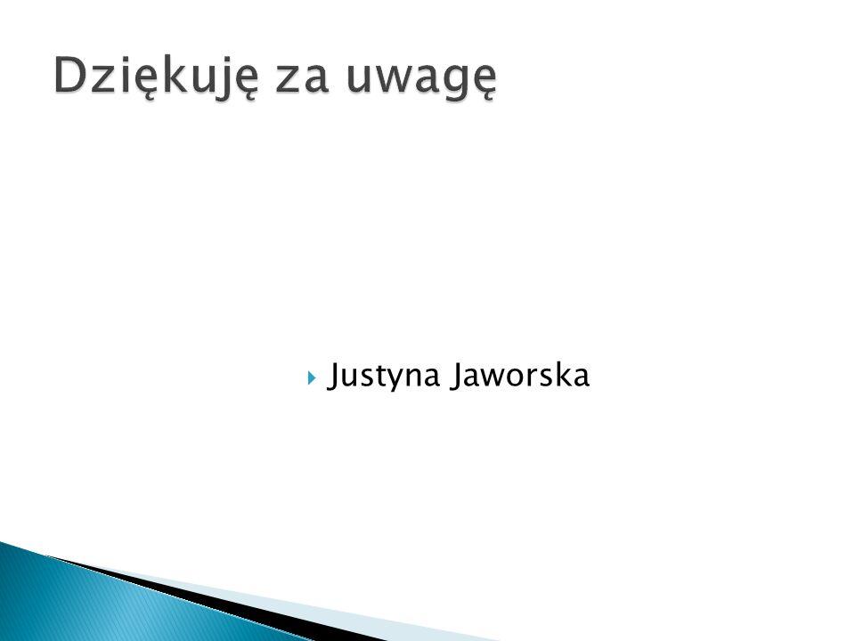 Dziękuję za uwagę Justyna Jaworska