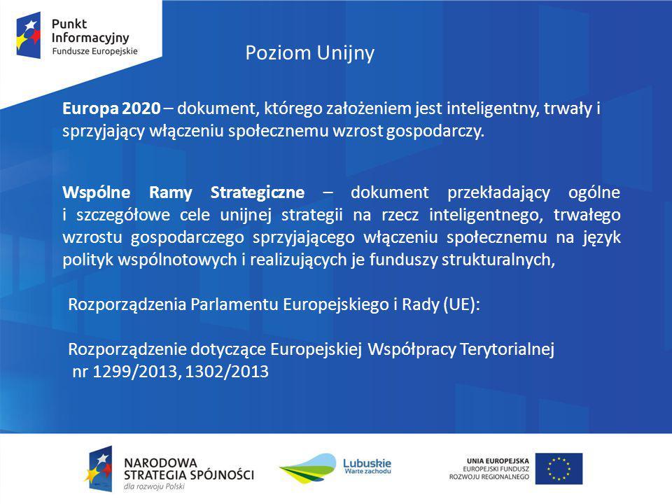 Poziom Unijny Europa 2020 – dokument, którego założeniem jest inteligentny, trwały i sprzyjający włączeniu społecznemu wzrost gospodarczy.