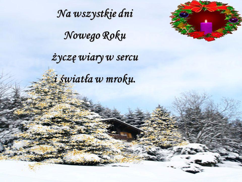 Na wszystkie dni Nowego Roku życzę wiary w sercu i światła w mroku.