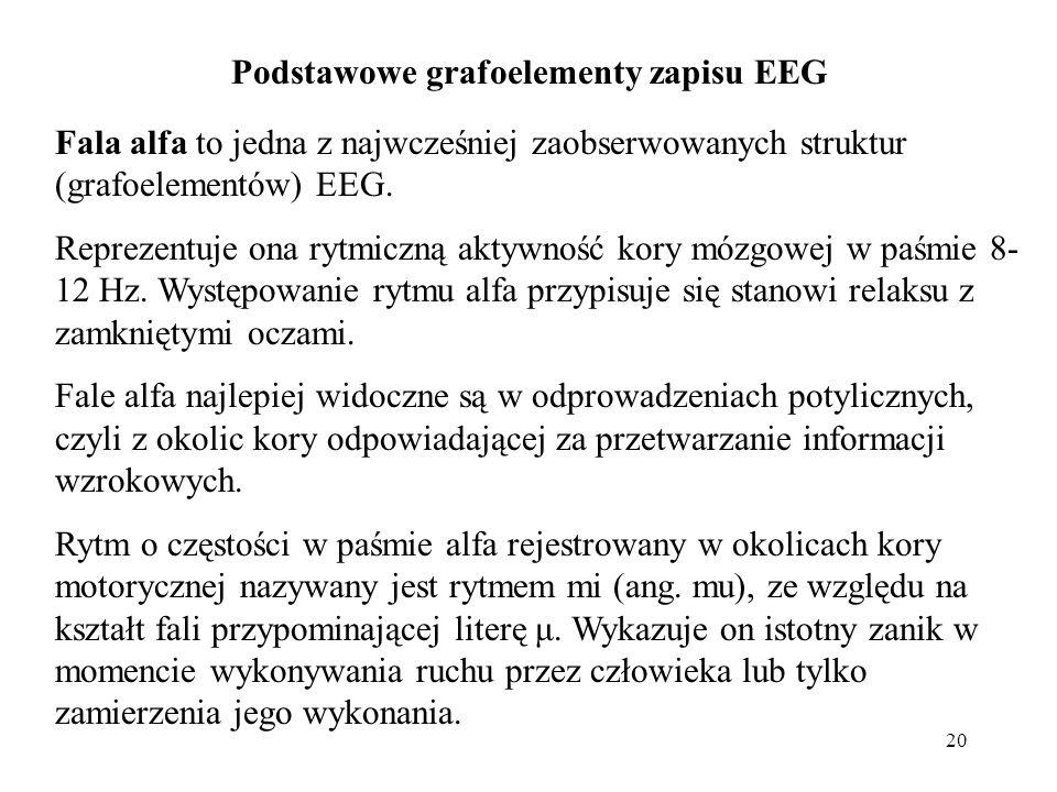 Podstawowe grafoelementy zapisu EEG