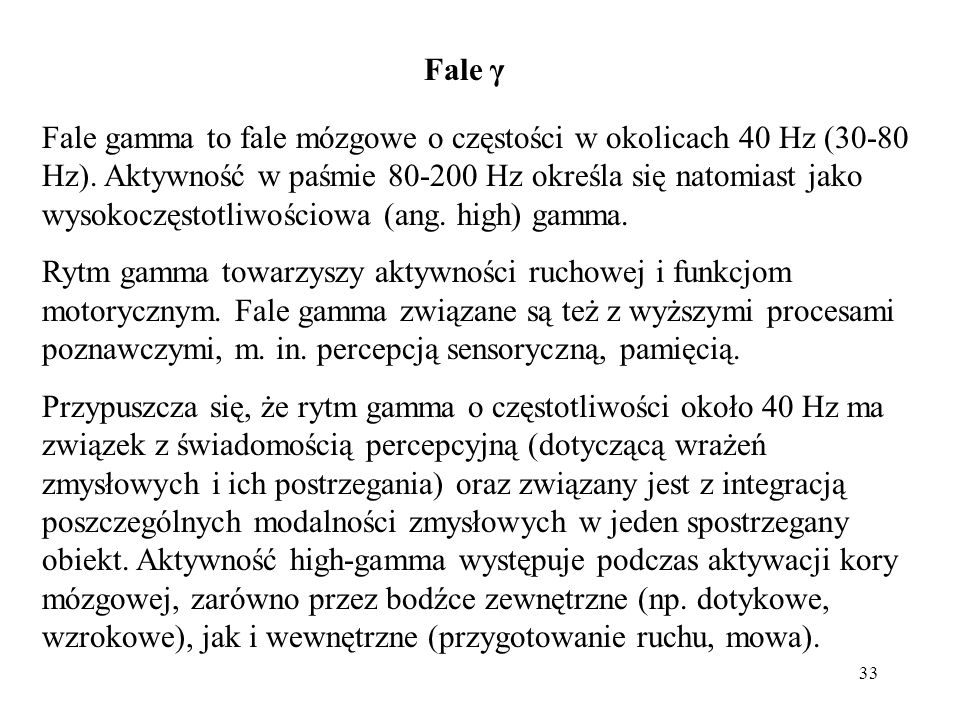 Fale γ
