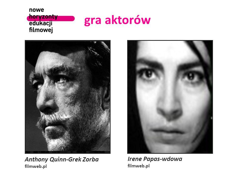 gra aktorów Anthony Quinn-Grek Zorba Irene Papas-wdowa filmweb.pl