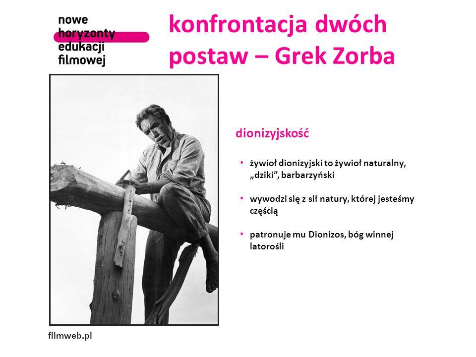 konfrontacja dwóch postaw – Grek Zorba