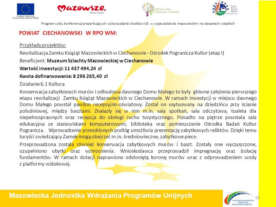 POWIAT CIECHANOWSKI W RPO WM: