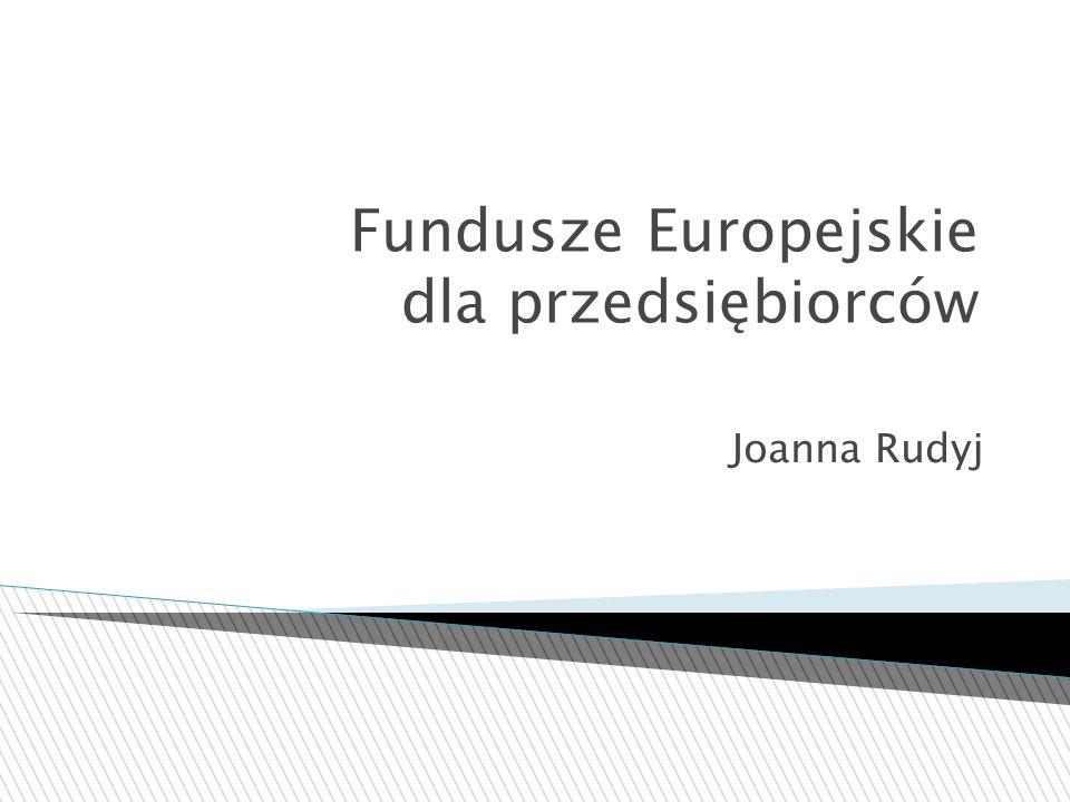 Fundusze Europejskie dla przedsiębiorców