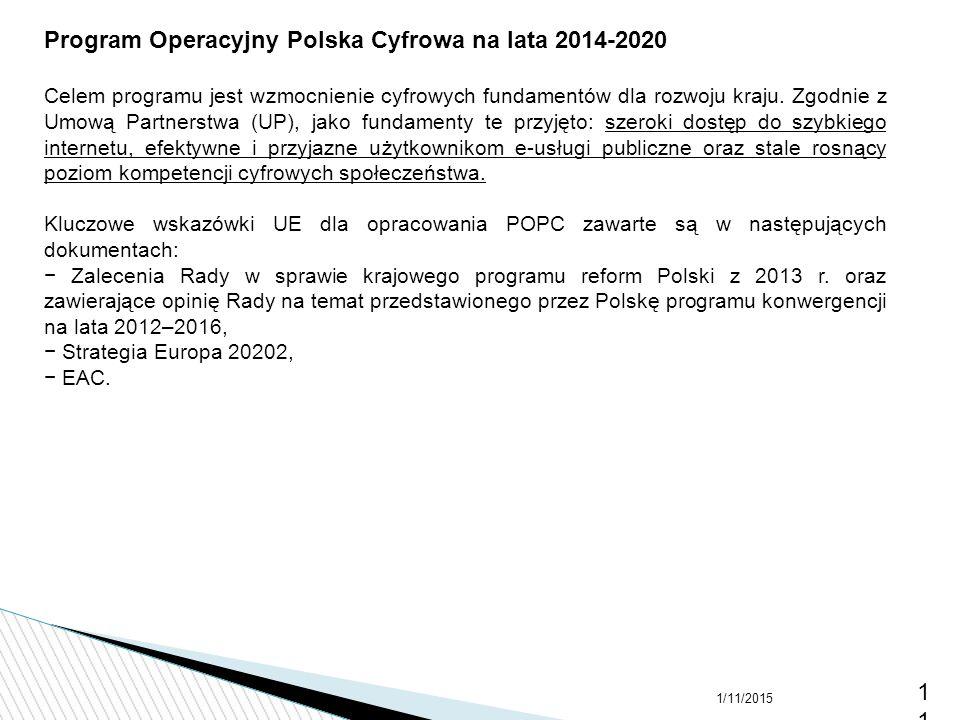 Program Operacyjny Polska Cyfrowa na lata 2014-2020