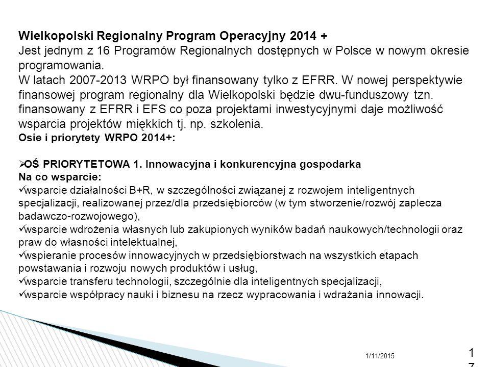 Wielkopolski Regionalny Program Operacyjny 2014 +