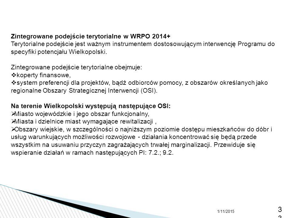 3333 Zintegrowane podejście terytorialne w WRPO 2014+