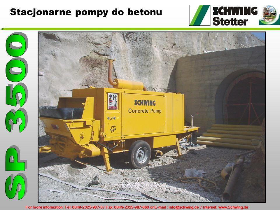 Stacjonarne pompy do betonu