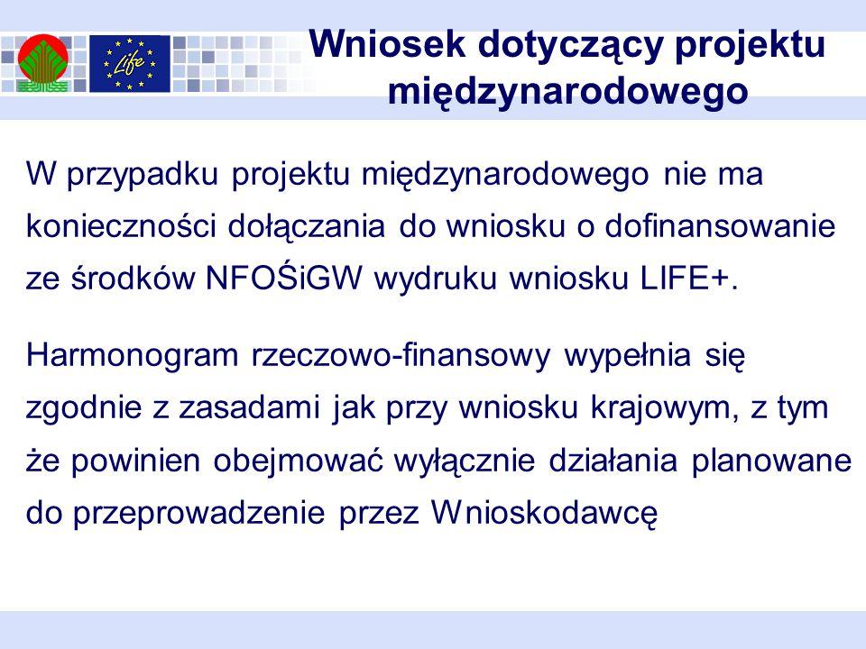 Wniosek dotyczący projektu międzynarodowego
