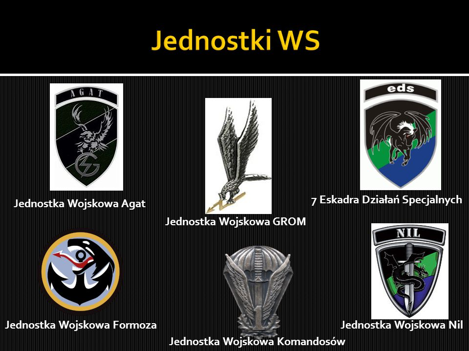 Jednostki WS 7 Eskadra Działań Specjalnych Jednostka Wojskowa Agat