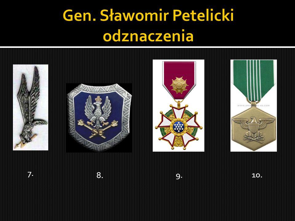 Gen. Sławomir Petelicki odznaczenia