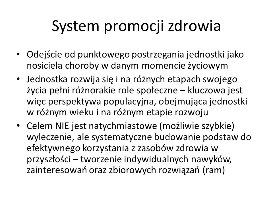 System promocji zdrowia