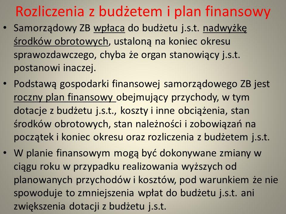 Rozliczenia z budżetem i plan finansowy