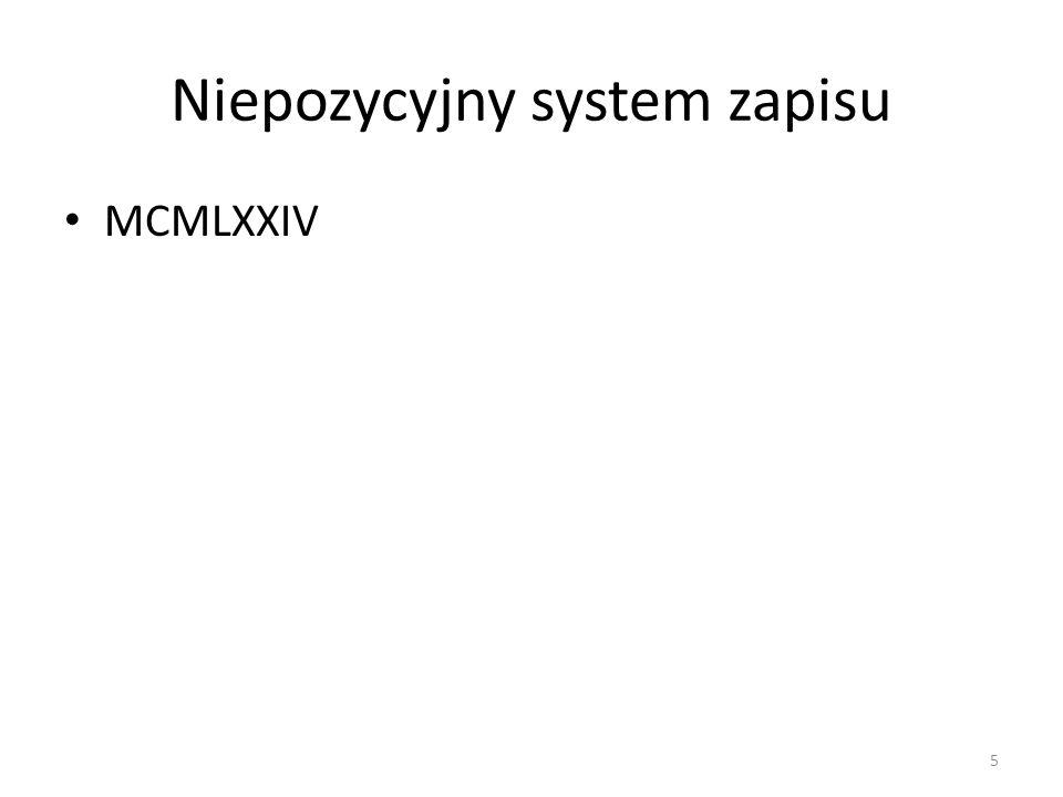 Niepozycyjny system zapisu