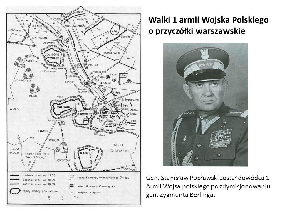 Walki 1 armii Wojska Polskiego o przyczółki warszawskie